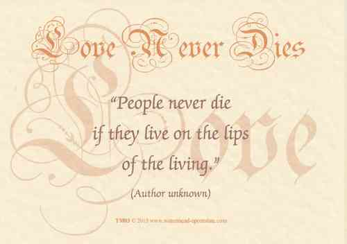 Love Never Dies Card - Never Die