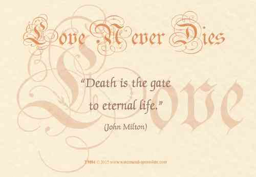 Love Never Dies Card - Gate