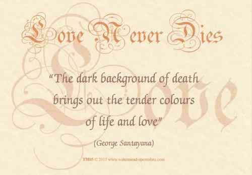 Love Never Dies Card - Colours