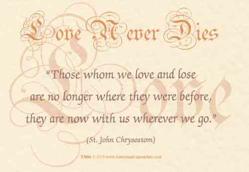 Love Never Dies Card - Chrysostom