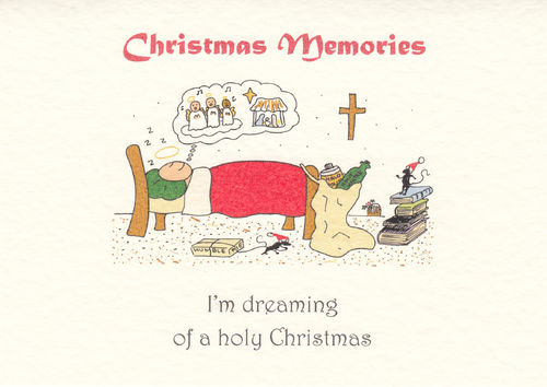 Little Saint Christmas Card (Sleeping)