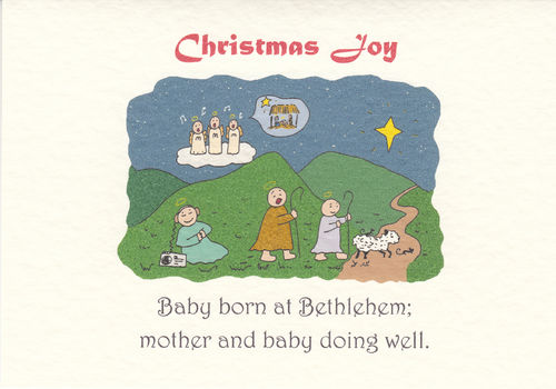 Little Saint Christmas Card (Born)