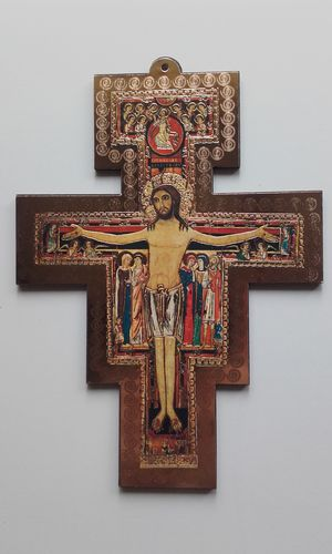 St. Francis Cross (San Damiano Crucifix) - Large