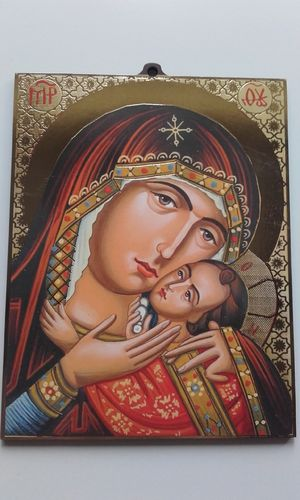 Madonna and Child Icon (with scroll)