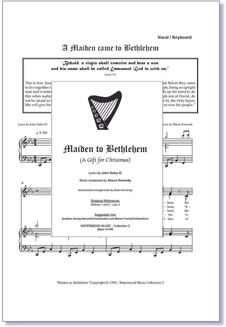 A Maiden Came to Bethlehem Sheet Music - Christmas Carol Hymn