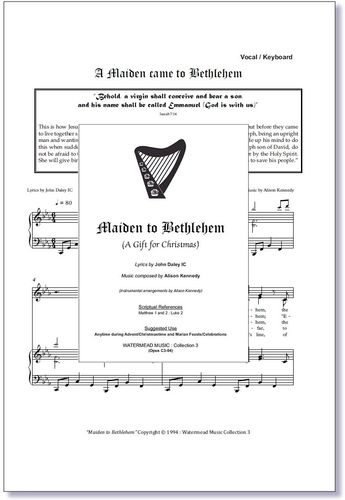 A Maiden Came to Bethlehem Sheet Music