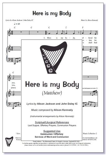 Here Is My Body Sheet Music
