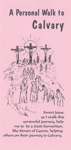 Stations of the Cross Card (Pink)
