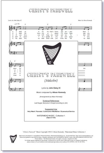 Christ's Farewell Sheet Music
