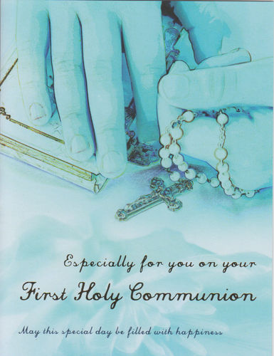 First Holy Communion Card - Boy/Blue