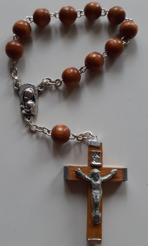 Finger Rosary (one decade) - with Mary and Jesus Medal