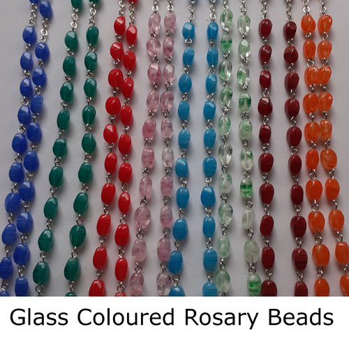 Rosary Beads with Glass Coloured Beads