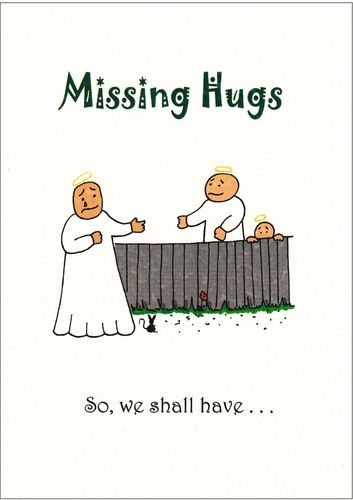Little Saints - Missing Hugs Card