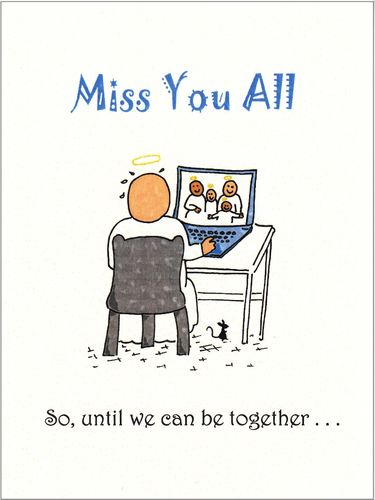Little Saints - Miss You All Card