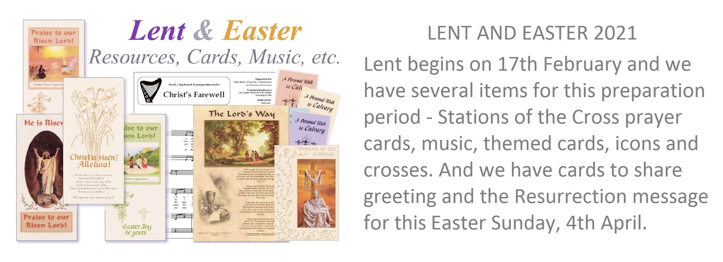 Lent and Easter Card and Resources
